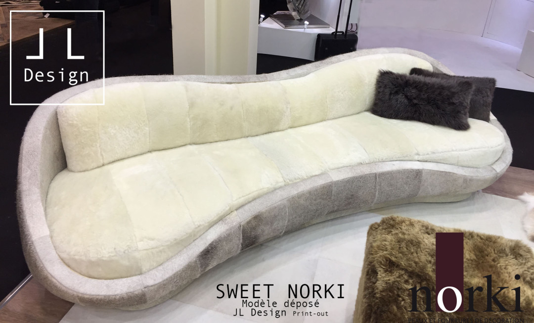 Sofa sweet cowhide at Maison & Objet Paris 2015